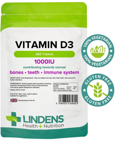 Vitamin D3 1000 IU Tablets (360 pack) - Authentic Vitamins