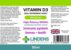 Vitamin D3 Spray 3000IU 30ml - Authentic Vitamins