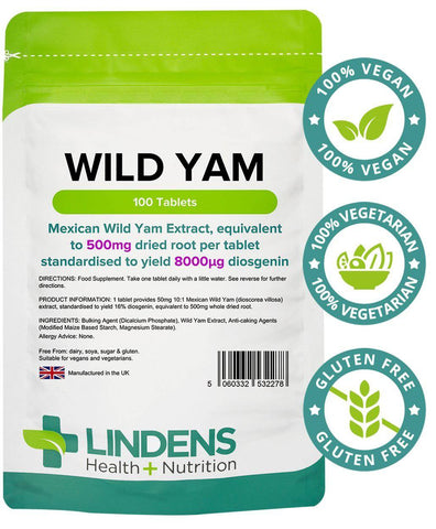 Wild Yam 500mg Tablets (100 pack) - Authentic Vitamins