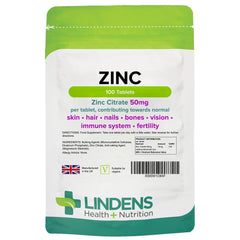 Zinc Citrate 50mg Tablets (100 pack) - Authentic Vitamins