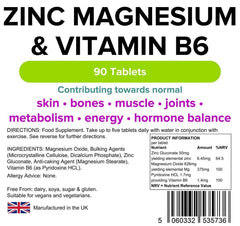 Zinc, Magnesium & Vitamin B6 (90 pack) - Authentic Vitamins