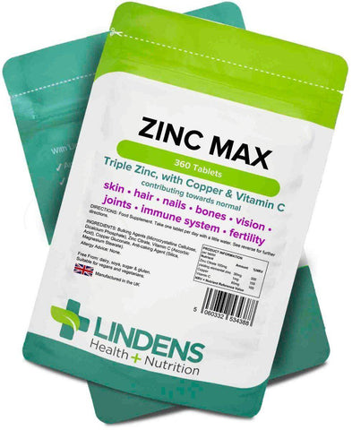 Zinc Max Tablets (360 pack) - Authentic Vitamins