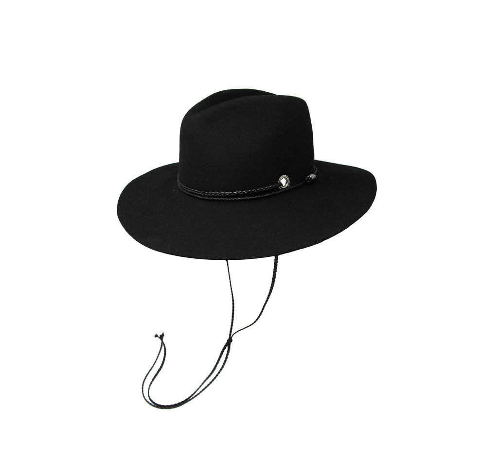 Classic Long Brim felted wool