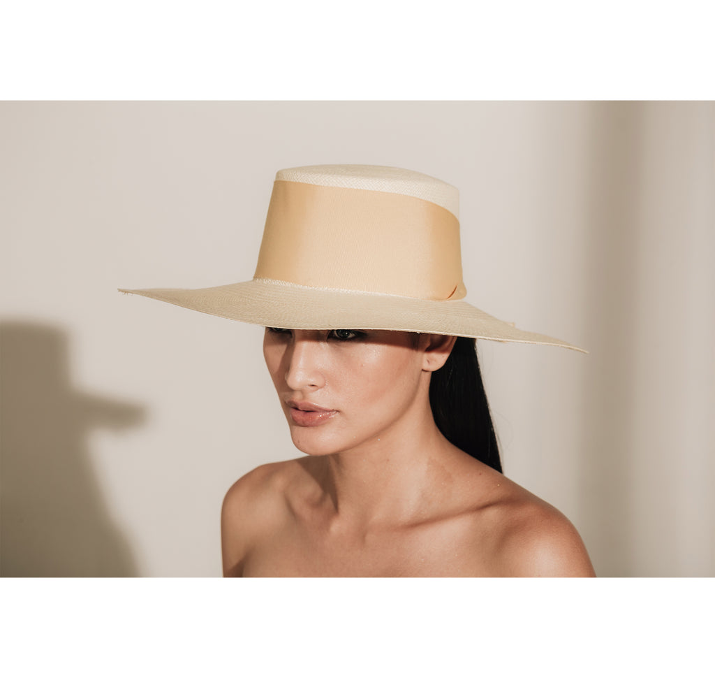 Long Brim Cordovan Hat