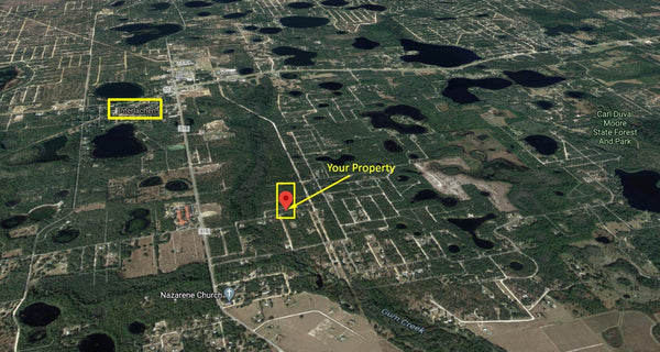Majestic .24 Acre Lot On Paved Road-Minutes to Interlachen