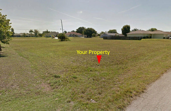 .23 Acre Residential Cleared Lot on Paved Road in Cape Coral
