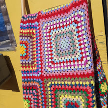 Load image into Gallery viewer, Large patchwork Granny Square blanket