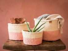 Load image into Gallery viewer, JIONI Dusky Pink Colour Block Basket