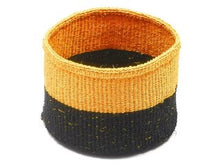 Load image into Gallery viewer, NYUKI: Black & Yellow Duo Colour Block Woven Basket