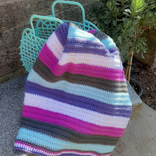 Load image into Gallery viewer, Purple Haze stripe baby blanket