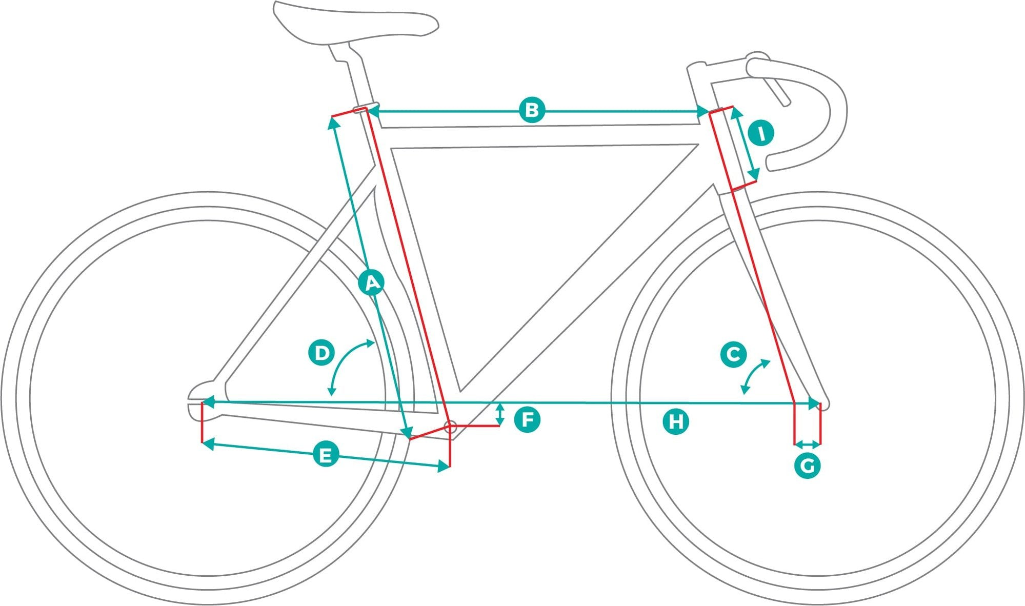 Fixed Gear Track Bicycle Geometry Image