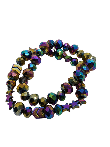 Multi-Colored Bead Bracelets