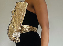 Load image into Gallery viewer, Velvet Metallic Vintage Dress