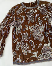 Load image into Gallery viewer, Jewel Encrusted Vintage Blouse
