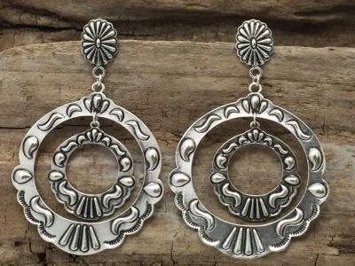 Large Dangle Hoops - The Fort - TX