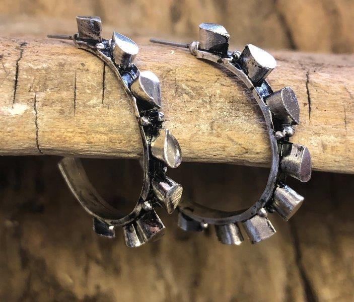 Studded Hoops - The Fort - TX