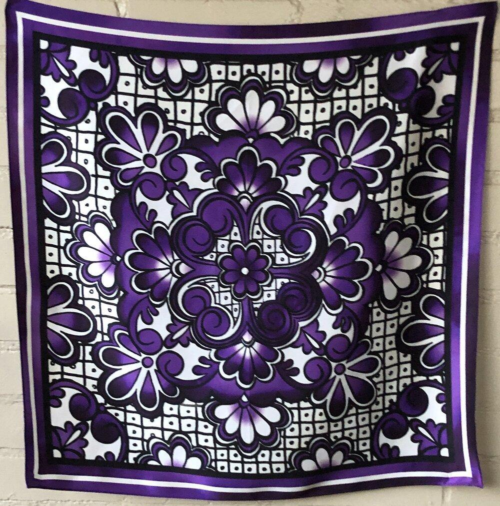 San Pablo Talavera Silk Scarf - The Fort - TX