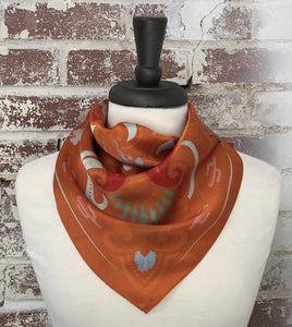 Sonoran Silk Scarf in Terracotta - The Fort - TX
