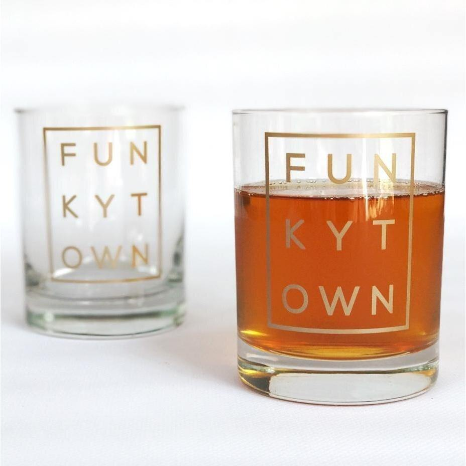 Funkytown Double Old Fashion Glass - The Fort - TX