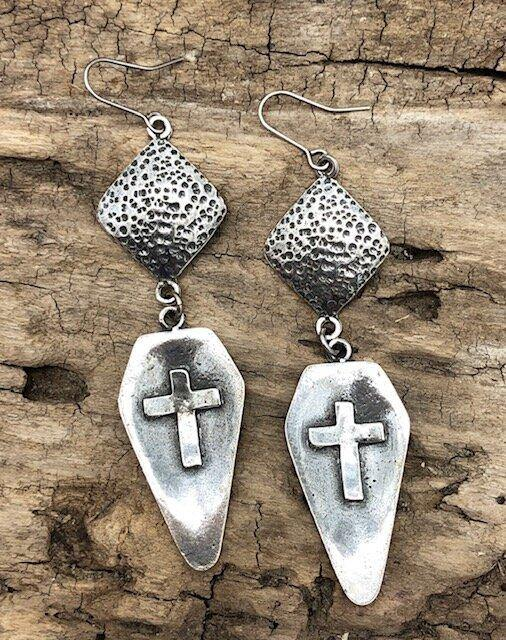 Silver Fish Hook Earrings - The Fort - TX