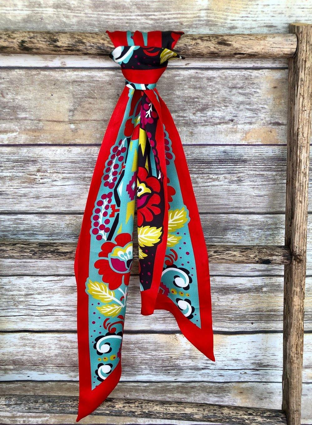 Fiore Silk Twilly Scarf - The Fort - TX