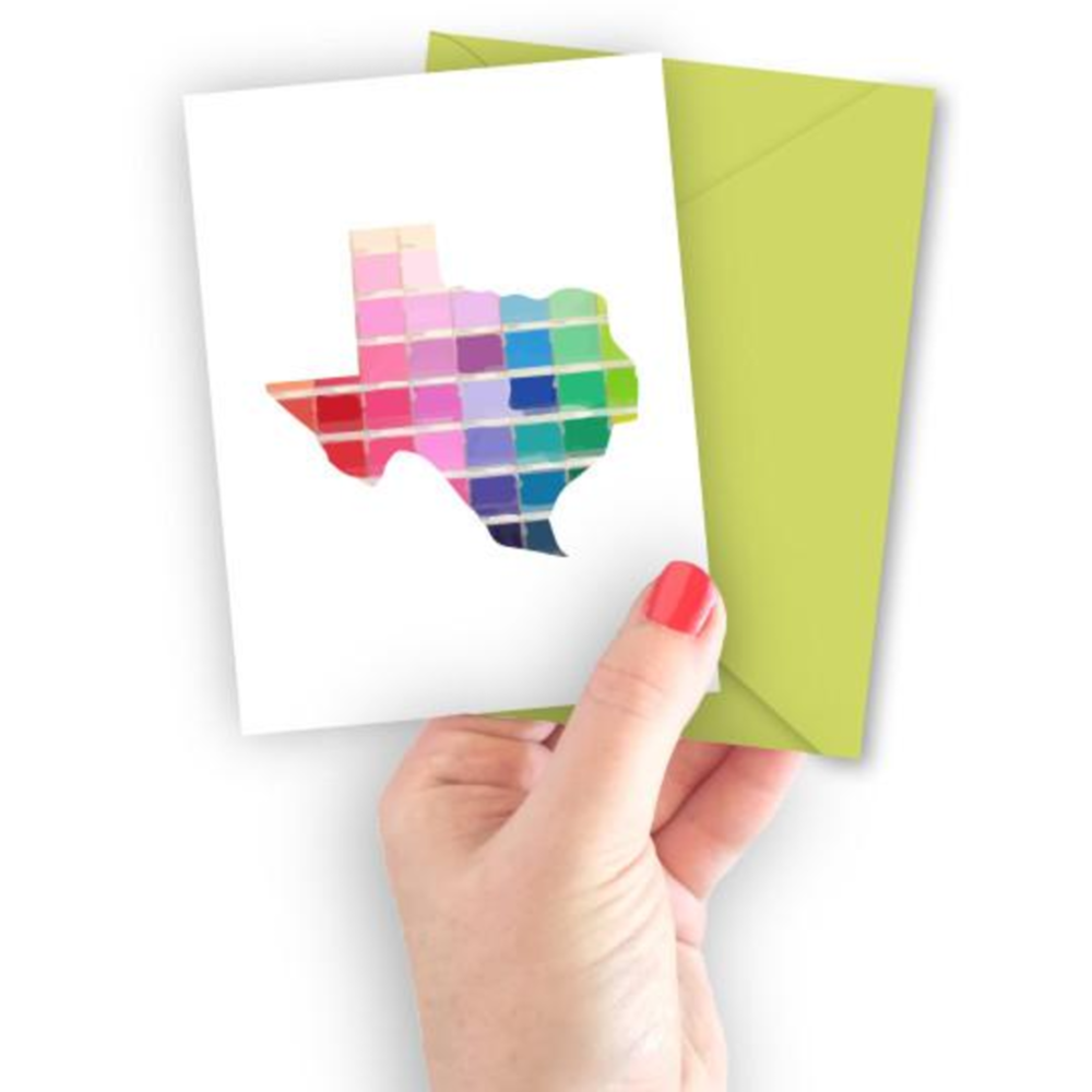 Paint Swatch Texas Greeting Card - The Fort - TX
