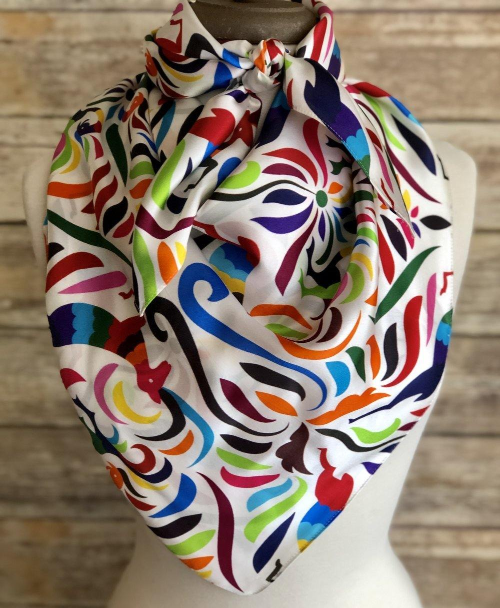 Otomi Spring Silk Scarf - The Fort - TX