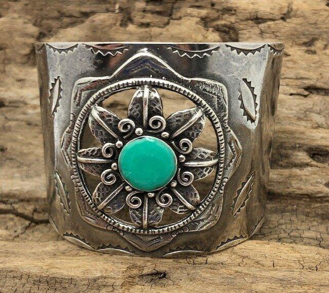 Sunburst Cuff with Turquoise - The Fort - TX