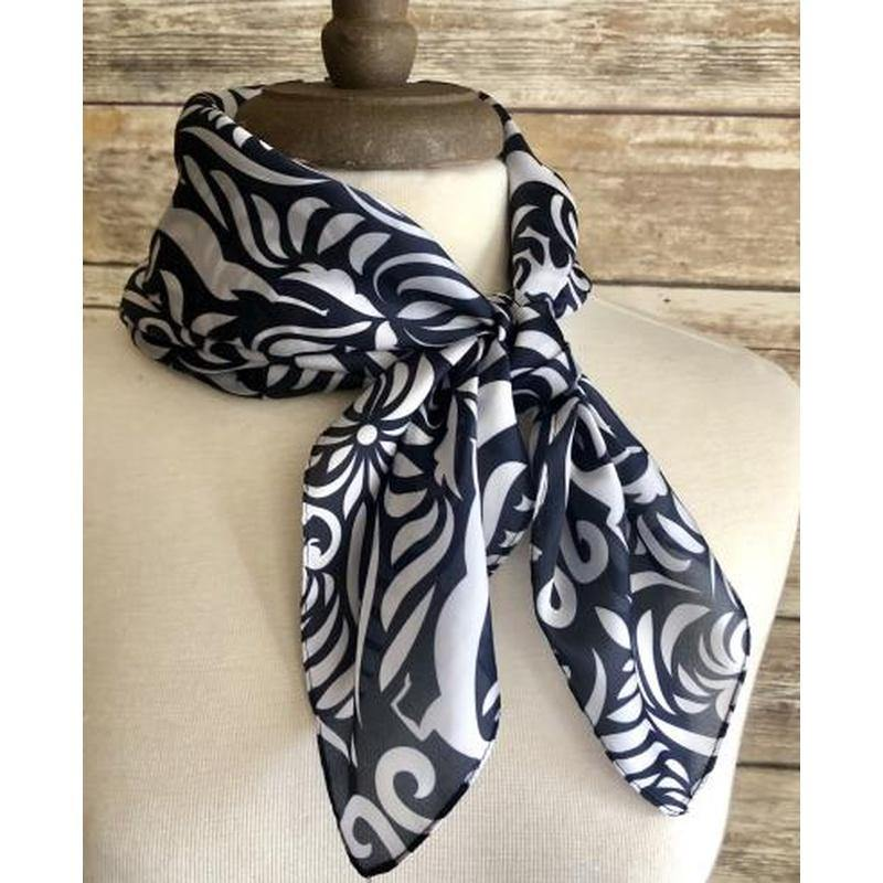 Otomi Navy and White Scarf - The Fort - TX