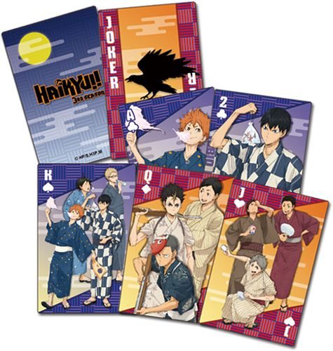 Haikyu!! Yukata Group Playing Cards