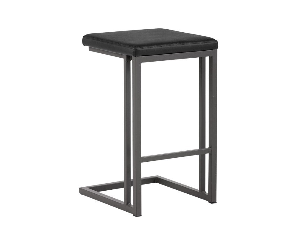 PB-06BON Backless Counterstool and Bar Stool-Onyx