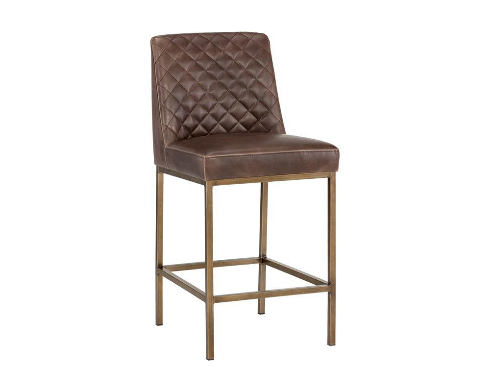 PB-06LEGHN Counterstool and Bar Stool – Faux Leather-Palma-Brava