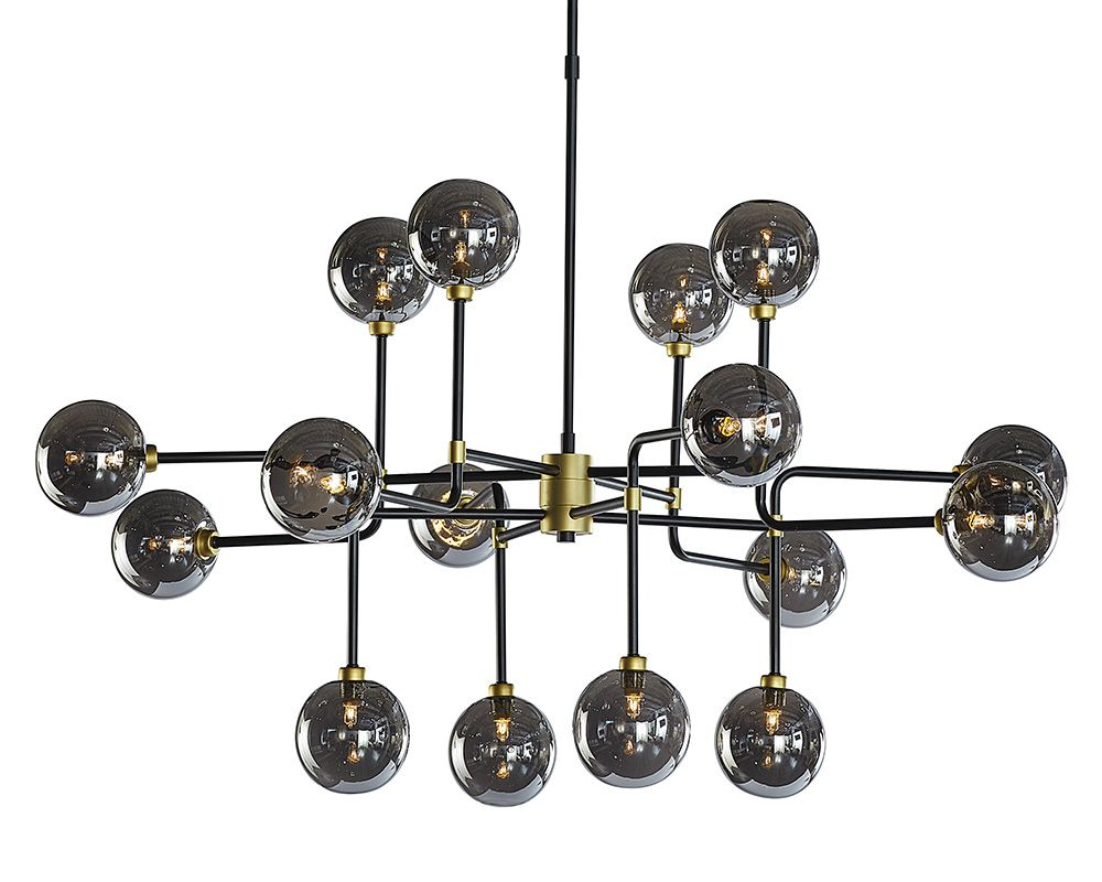 PB-06DEI Chandelier- Large Smoke Grey