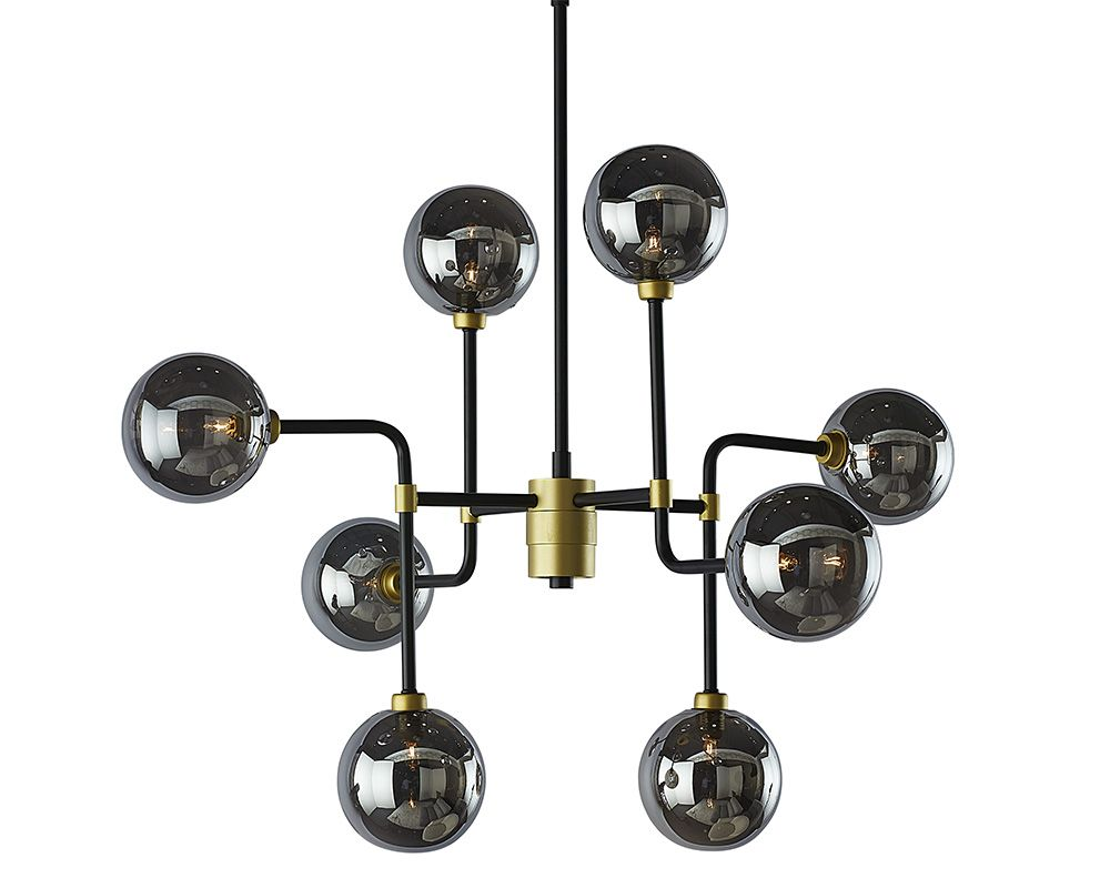 PB-06DEI Chandelier- Small Smoke Grey