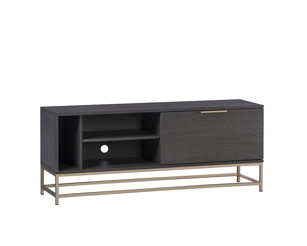 PB-06REB Media Stand -Gold Charcoal Grey-Palma-Brava