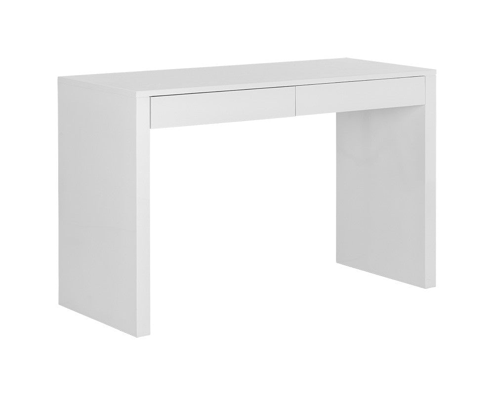 PB-06DUT Desk- High Gloss White