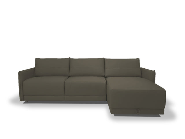 PB-09LUC Leather Sectional with Sofa Bed and Storage-Palma-Brava