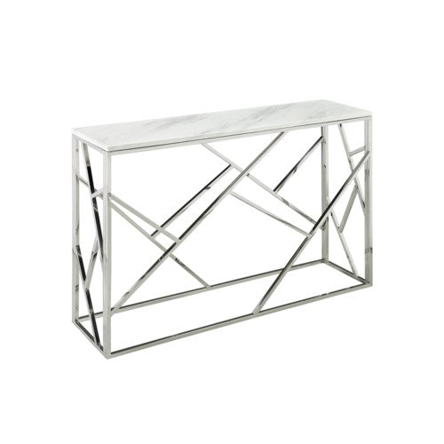PB-11CAR Console Table- Faux Marble