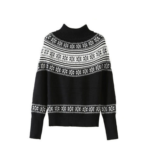 Classic Fair Isle Turtleneck Sweater