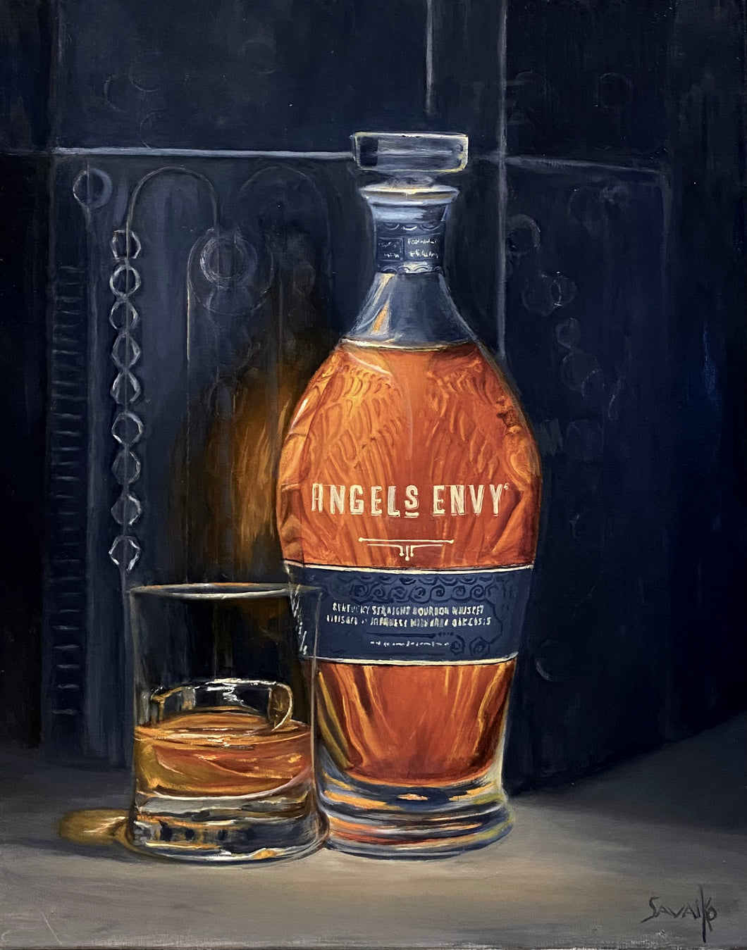 Original Oil Paining - Angel's Envy Mizunara Cask Finish