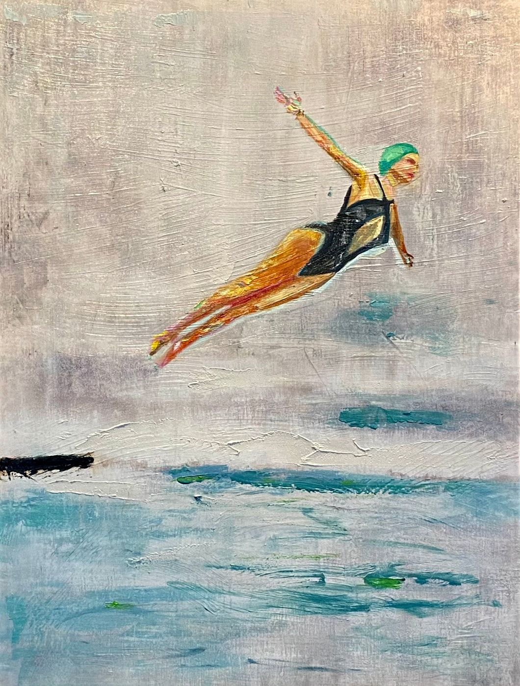 Original Oil Painting - Swan Dive
