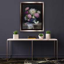 Load image into Gallery viewer, Peonies in Blue vase