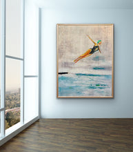 Load image into Gallery viewer, Original Oil Painting - Swan Dive