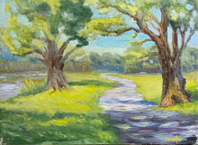 Load image into Gallery viewer, Original oil painting - Afternoon Walk - Proceeds benefit Parkinson's Foundation