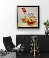 Load image into Gallery viewer, Original Oil Painting - Makers Mark Bottom's Up!