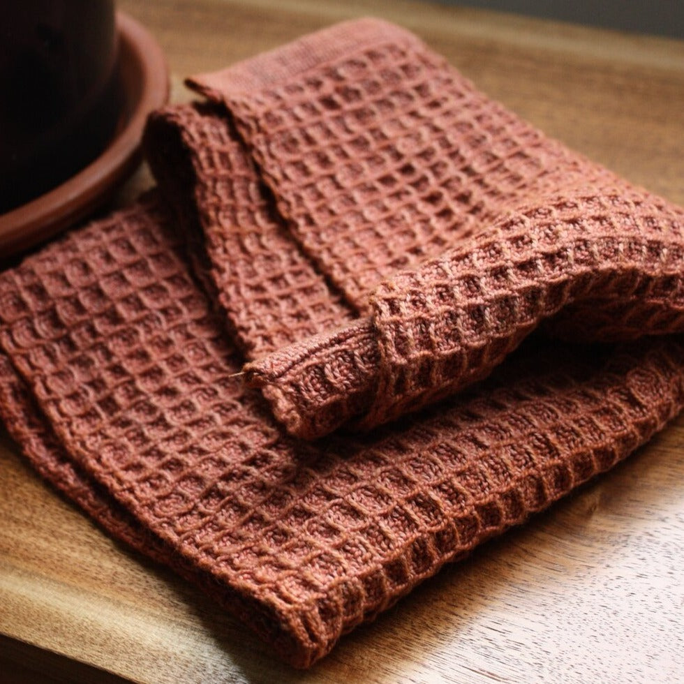 Waffle Cloth in Cinnamon / Cannella