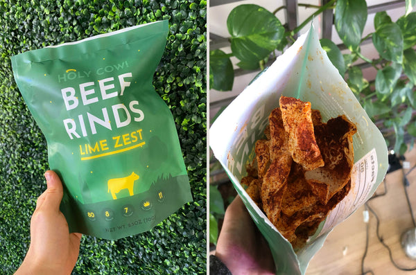 holy cow beef rinds package image