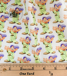 IN STOCK! Fabric Tumbler Cut Size 10x13 - Snow White Dopey Seven Dwarfs - Disney Fabric - Great for Mask Making