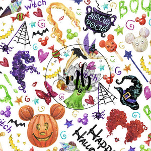 IN STOCK! Fabric Tumbler Cut Size 10x13 - Halloween Fabric - Mickey Halloween Fabric - Great for Mask Making