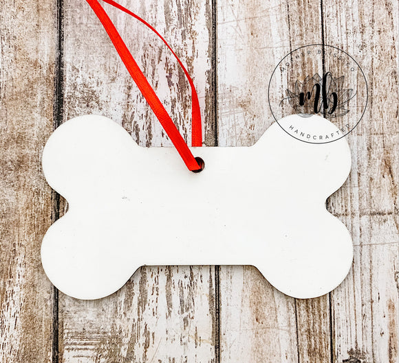 Dog Bone Shaped Ornament Blank for Sublimation - Double Sided MDF - Christmas Tree Ornament Blank - Sublimation or Vinyl